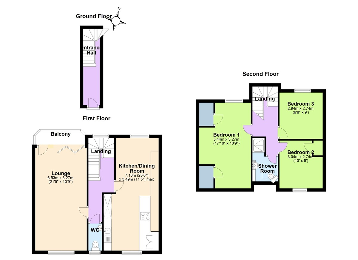 1A Riverview, Lower Contour Road, Kingswear, Devon floorplan