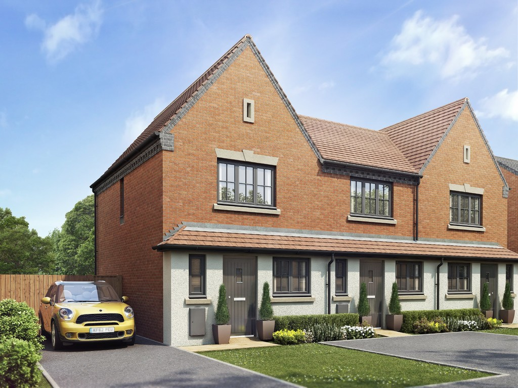 2 Bedroom End Terraced House, Plot 153, The Bradford, Oakley Grove, Harbury Lane