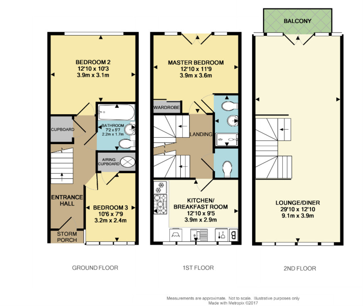 Trinity Place, Cliff Road, The Hoe, Plymouth, PL1 3DR floorplan