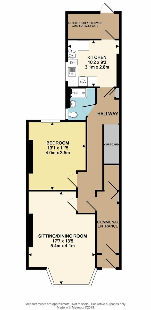 Ground Floor Flat, Radford Road, West Hoe, Plymouth, PL1 3BY floorplan