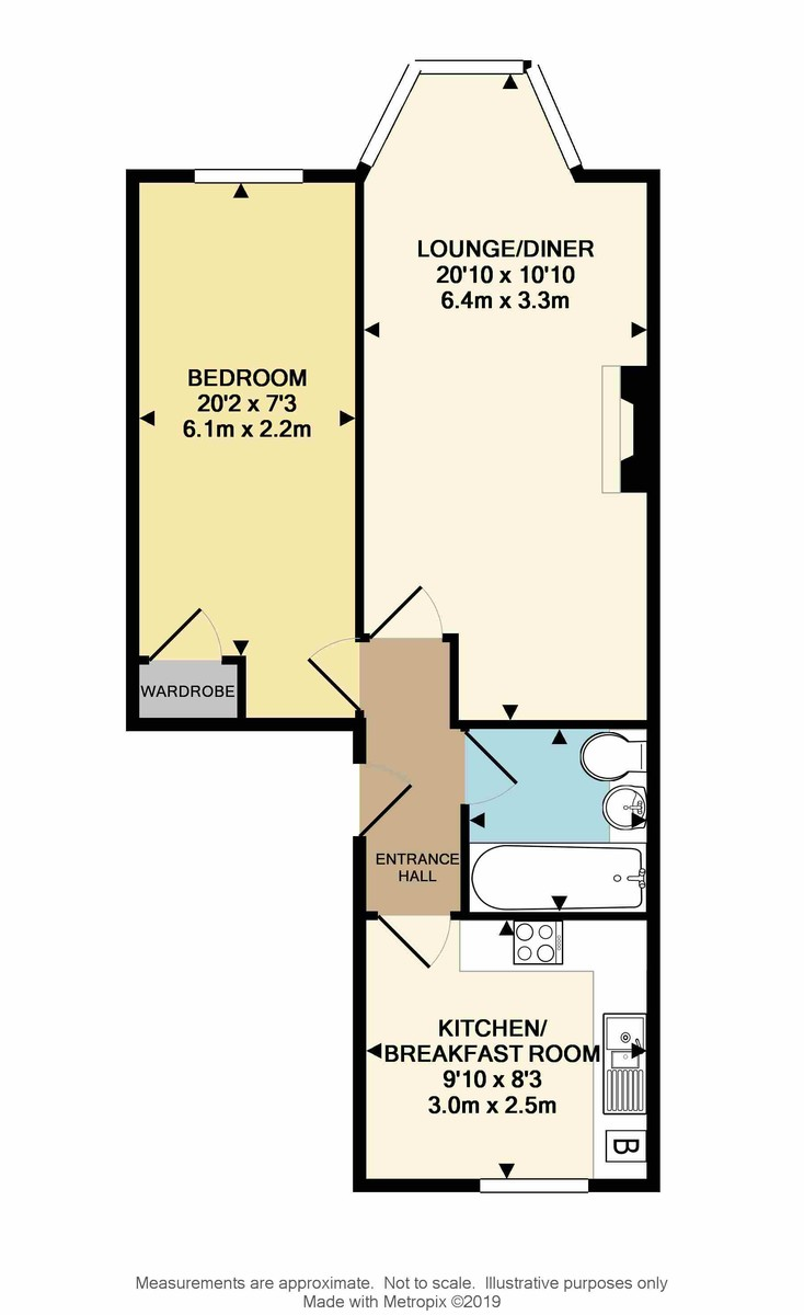 First Floor Flat, Holyrood Place, The Hoe, Plymouth, PL1 2QB floorplan