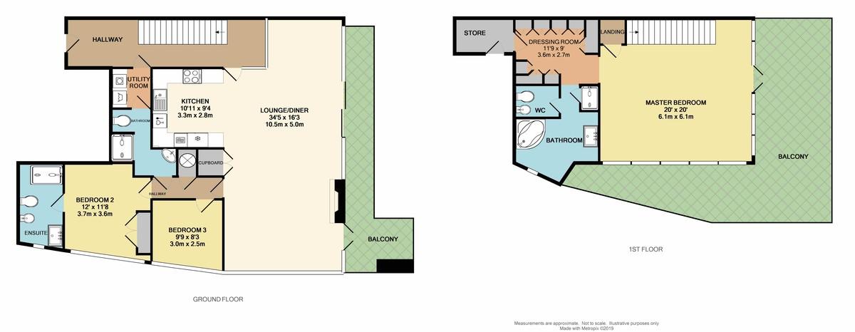 Azure, 55 Cliff Road, The Hoe, Plymouth, Devon, PL1 2PE floorplan