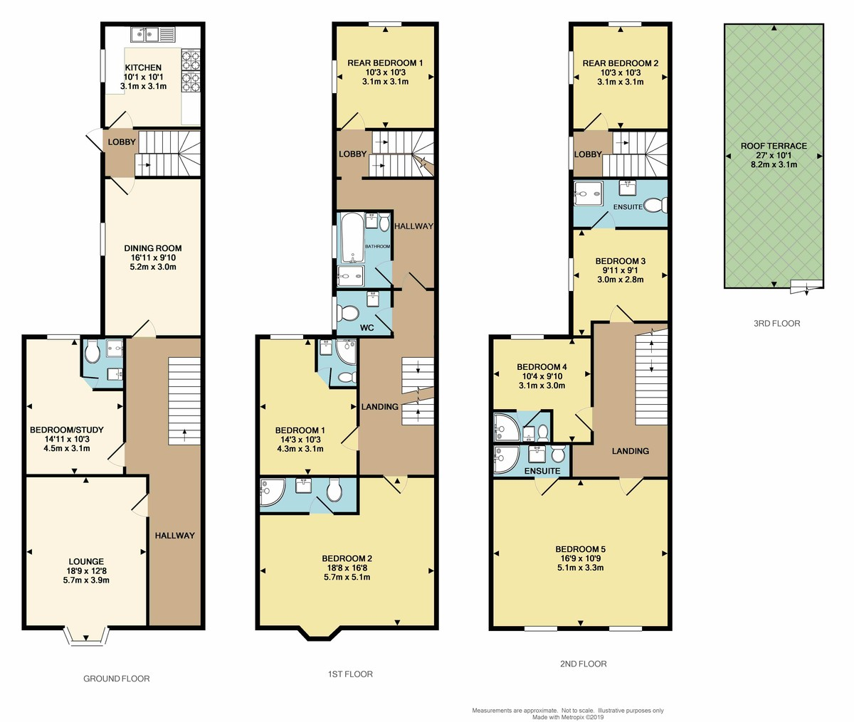 St Malo Guest House, 19 Garden Crescent, The Hoe, Plymouth,  PL1 3DA floorplan