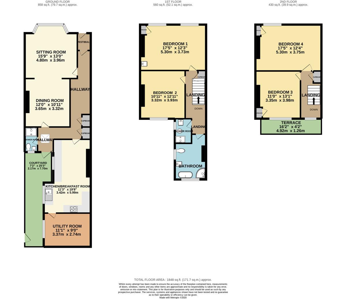 St. James Place East, The Hoe, Plymouth, Devon, PL1 3AS floorplan