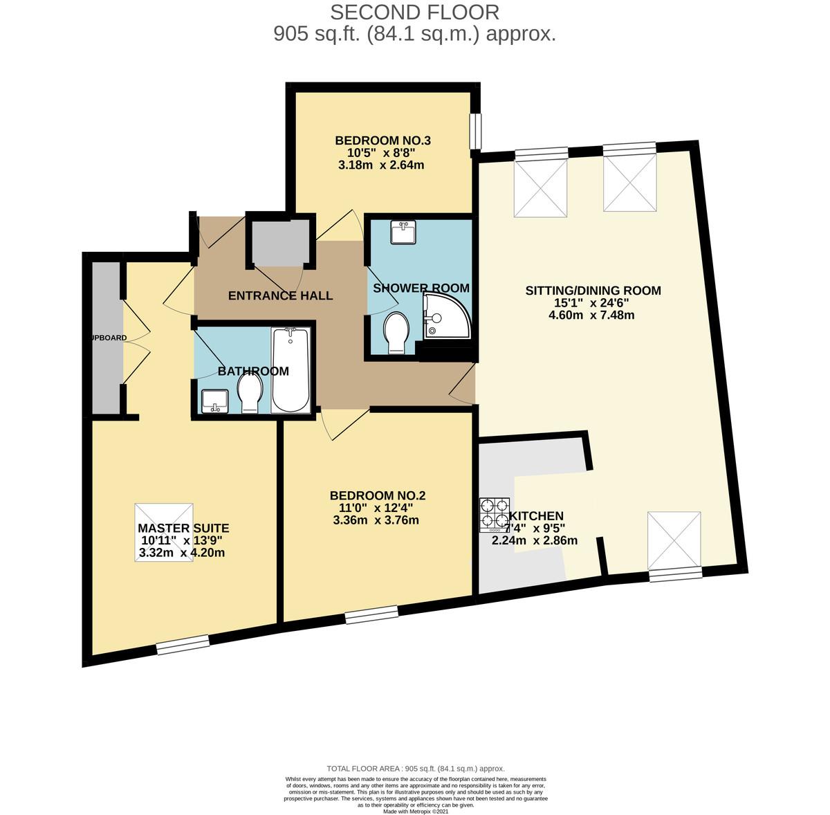 The Quarterdeck, Strand Street, Stonehouse, Plymouth. floorplan