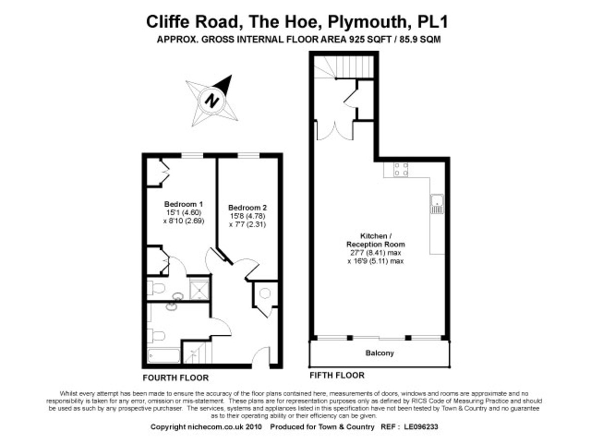 The Hoe, Plymouth floorplan