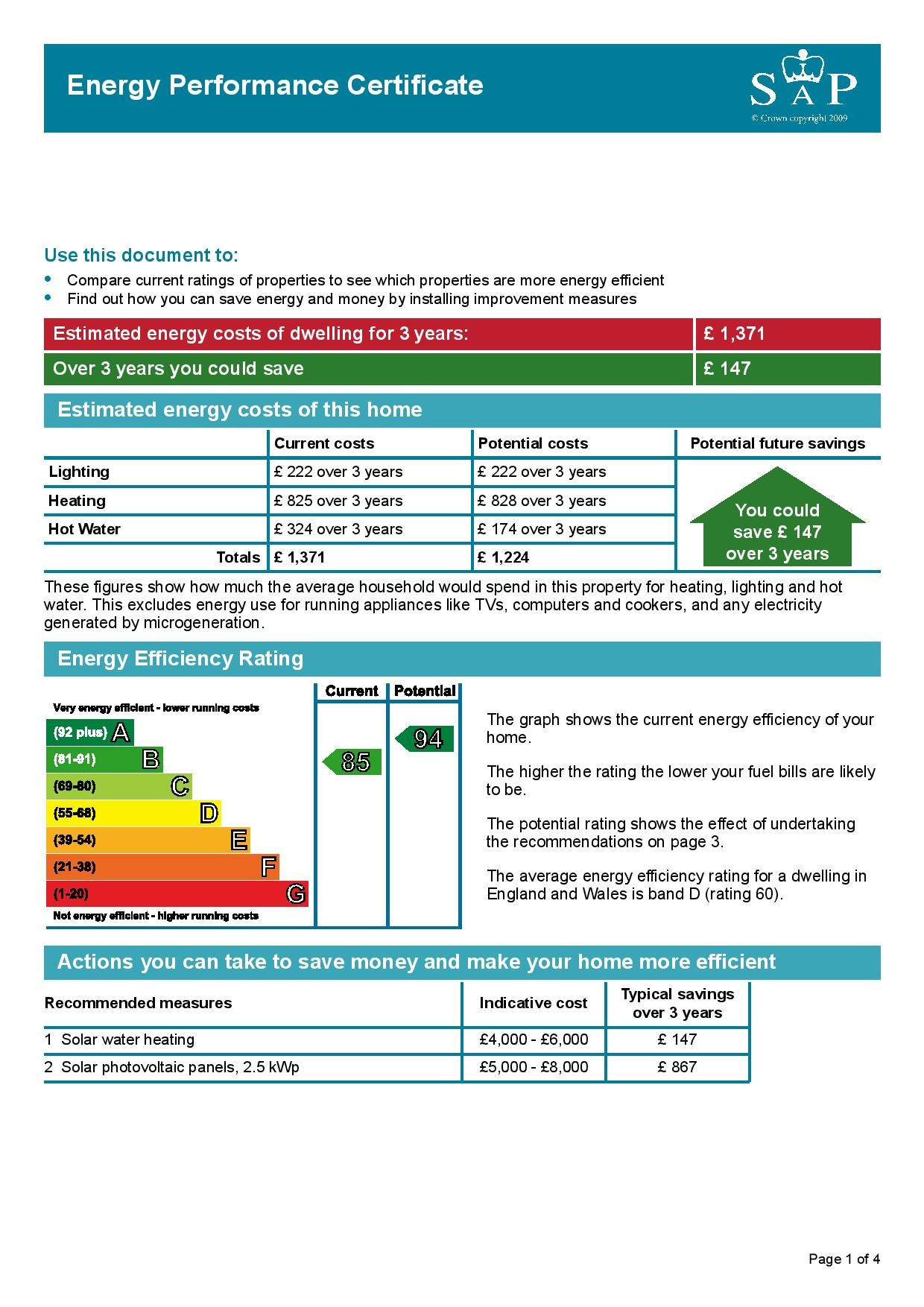 EPC Graph for Willowherb Road, Lyde Green, Bristol