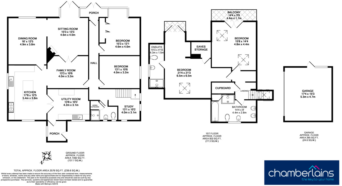 Floor Plan-Higher Brimley, Bovey Tracey