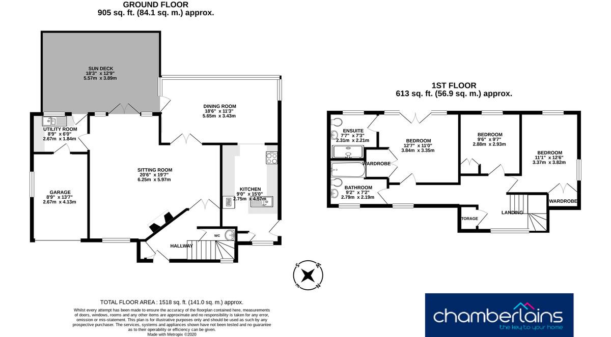 Floor Plan-Derncleugh Gardens, Holcombe, EX7 0JG