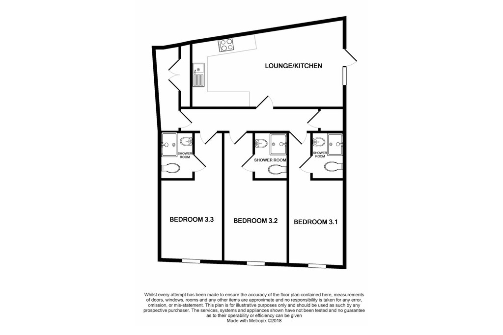 3 bedroomstudent                apartment               for rent in byron street
