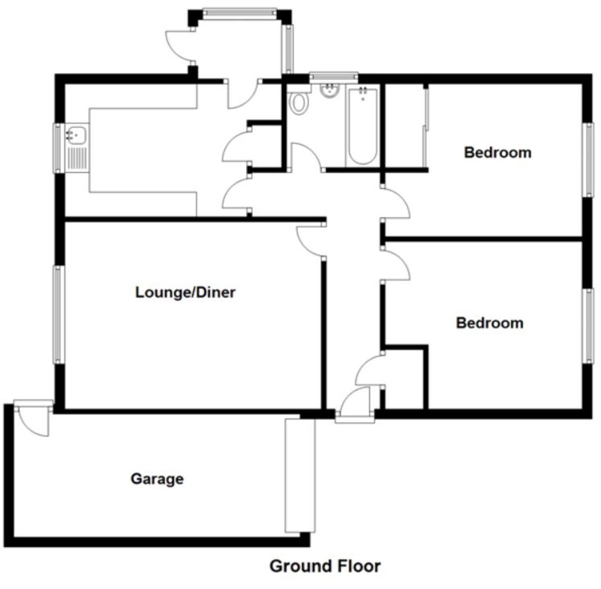 2 Bedroom Detached Bungalow, Waverton