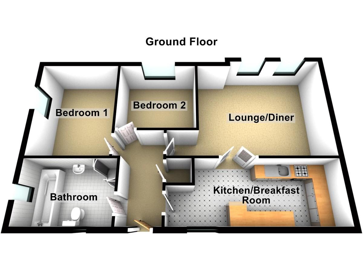 2 Bedroom Ground Floor Apartment, Chester