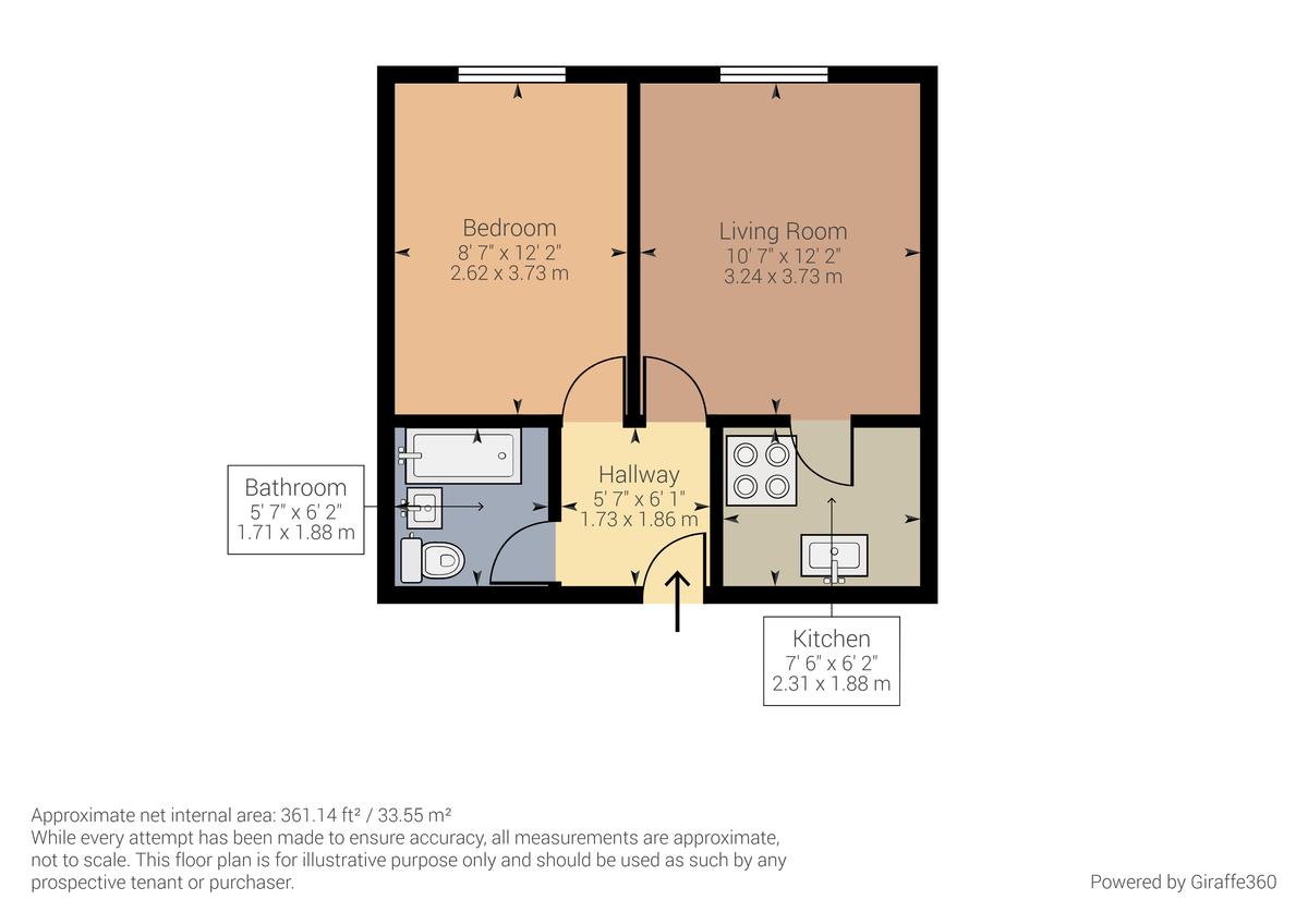 Floorplan Queens Lodge, Chapel Lane, Kendal, LA9 5LS