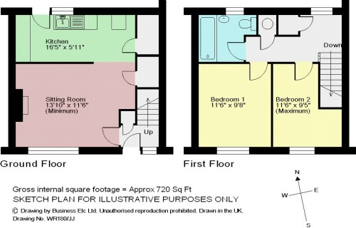 Floorplan 6 Atkinson Court, Newby Bridge, Ulverston, LA12 8NW