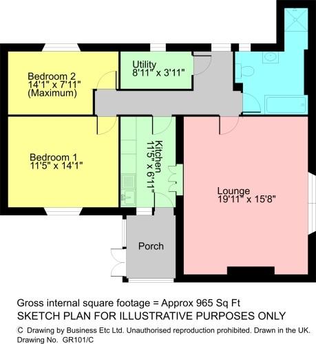 Floorplan Squirrel Cottage, 5 Eggerslack House, Grange-Over-Sands, LA11 6EX