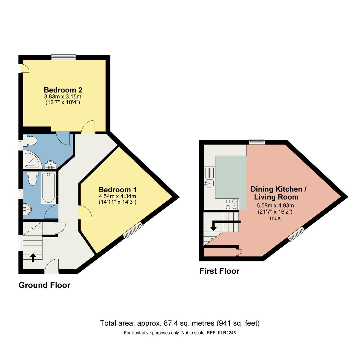 Floorplan Riverbank Cottage, Burrow, Nr Kirkby Lonsdale, Lancashire, LA6 2RJ