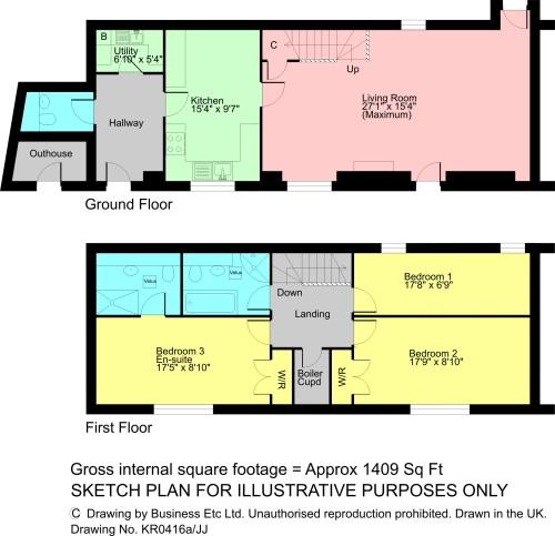 Floorplan The Stables, Natland, Kendal, Cumbria, LA9 7QQ
