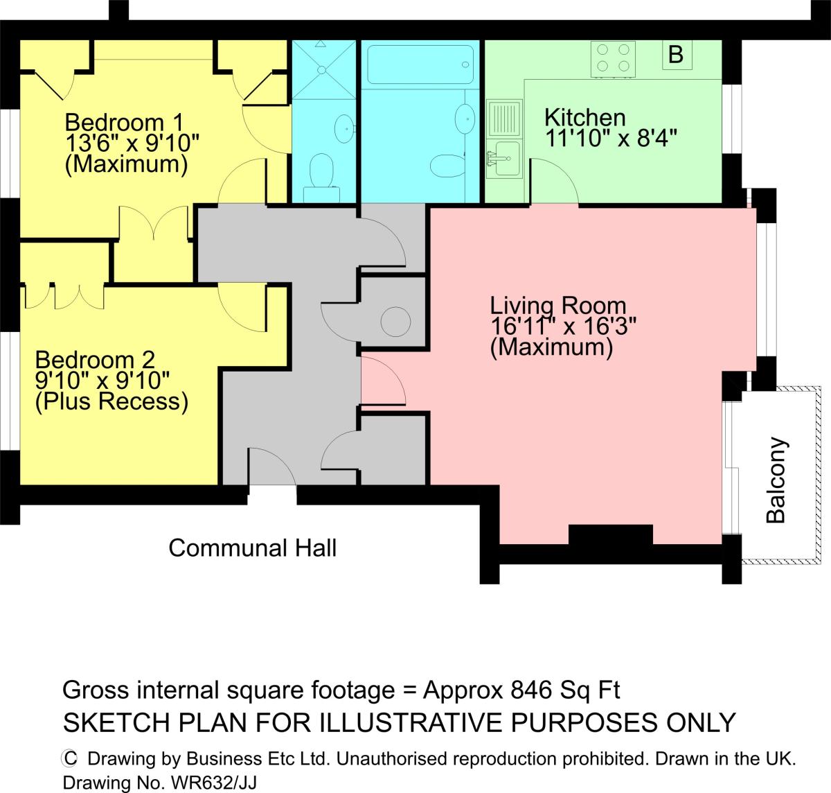 Floorplan 20 Bellman Close, Storrs Park, Bowness-on-Windermere, LA23 3QP