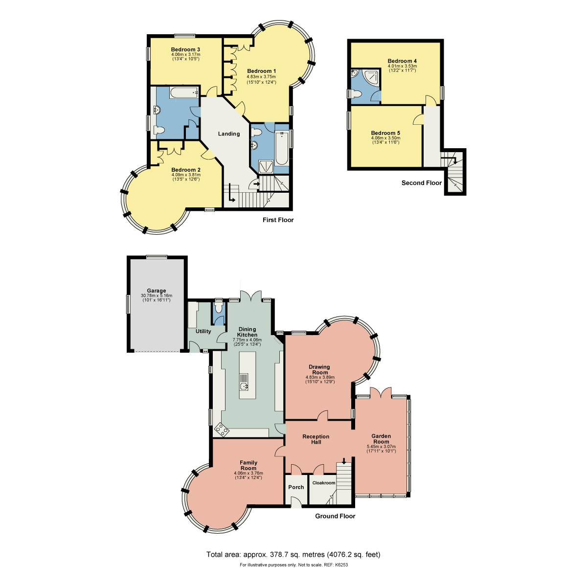 Floorplan Kentrigg House, 131 Burneside Road, Kendal, Cumbria, LA9 6EB