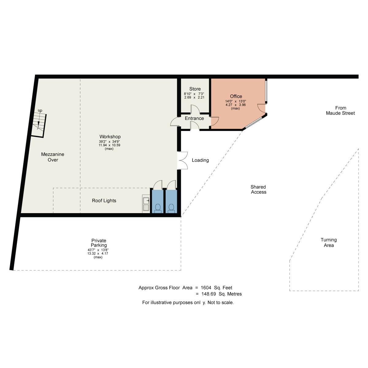 Floorplan Nobles Garage Maude Street Kendal Cumbria LA9 4QD