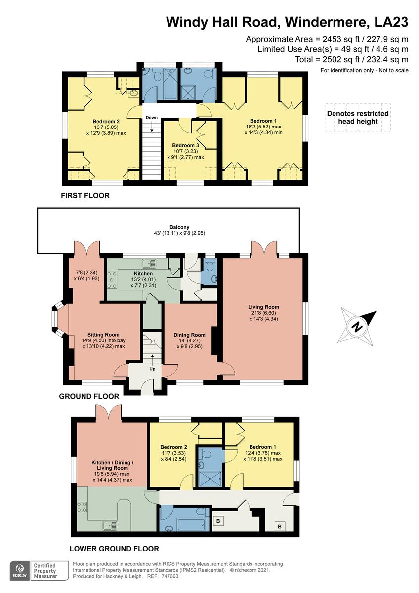 Floorplan Brackenrigg Lodge, Windy Hall Road, Bowness On Windermere, Cumbria, LA23 3HY