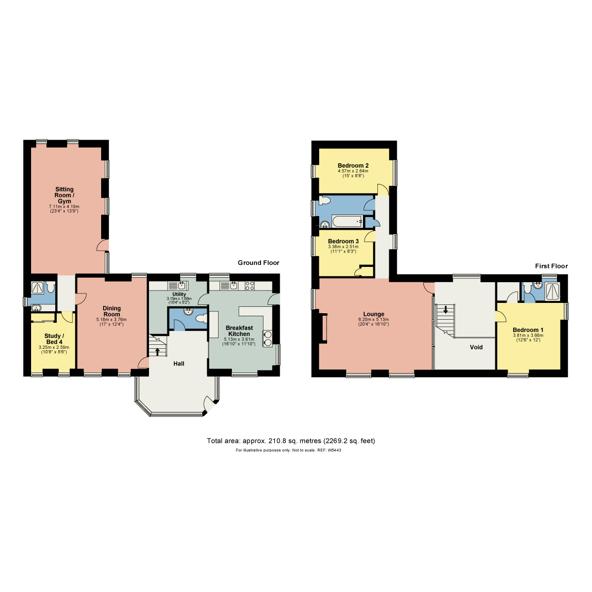 Floorplan Low Cartmell Fold Barn, Crosthwaite, Cumbria. LA8 8HS