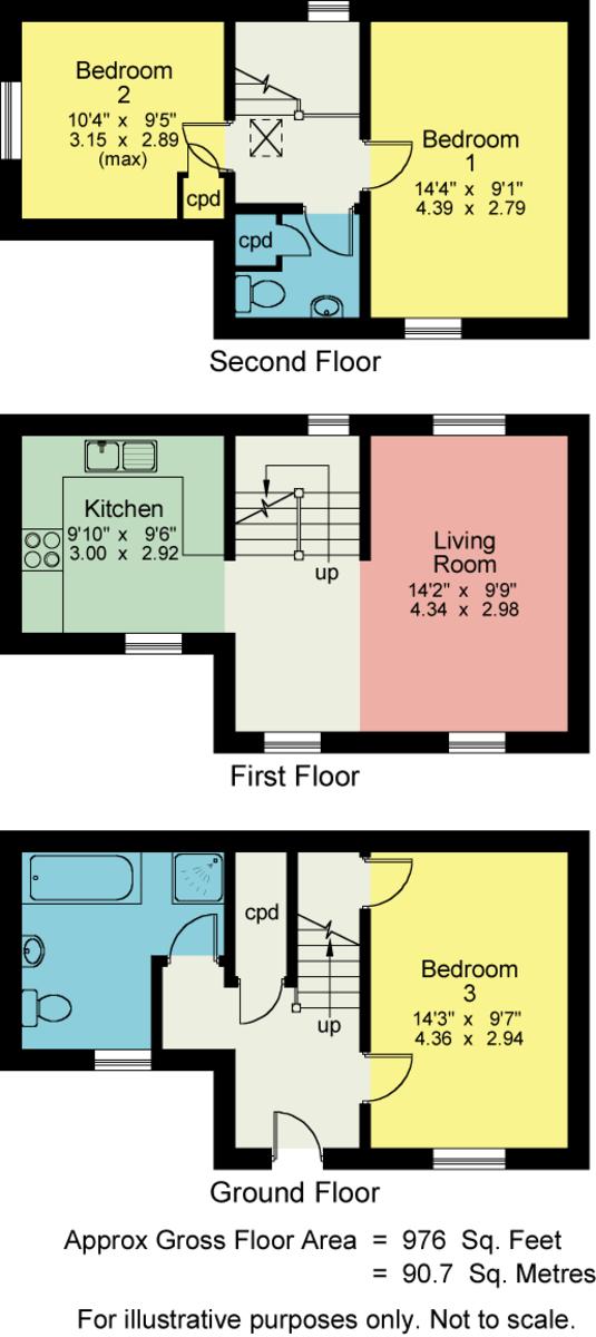 Floorplan Roselea, North Road, Ambleside, LA22 9DT