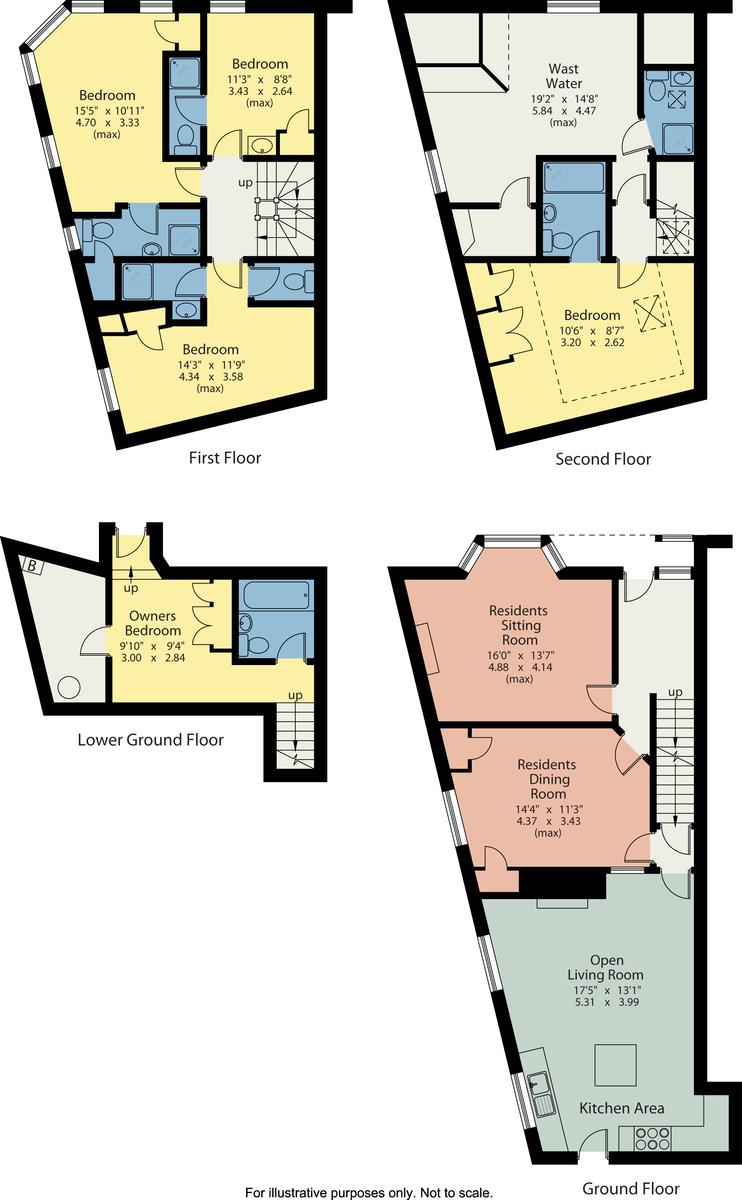 Floorplan Lynwood, Broad Street, Windermere, Cumbria, LA23 2AB