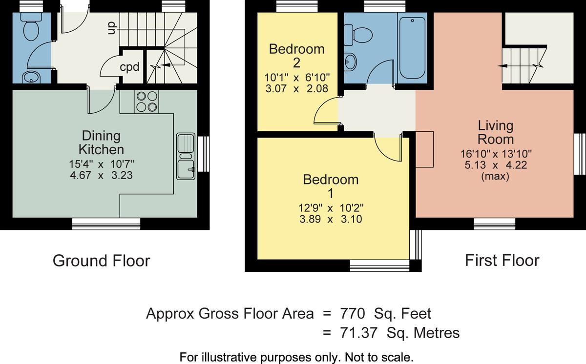 Floorplan The Stables, Woodhouse Lane, Heversham, LA7 7EW