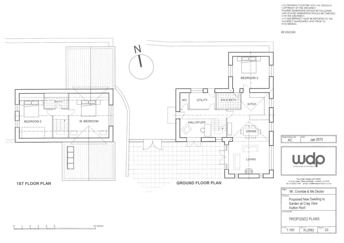 Floorplan Building Plot at Crag View, Hutton Roof, LA6 2PG