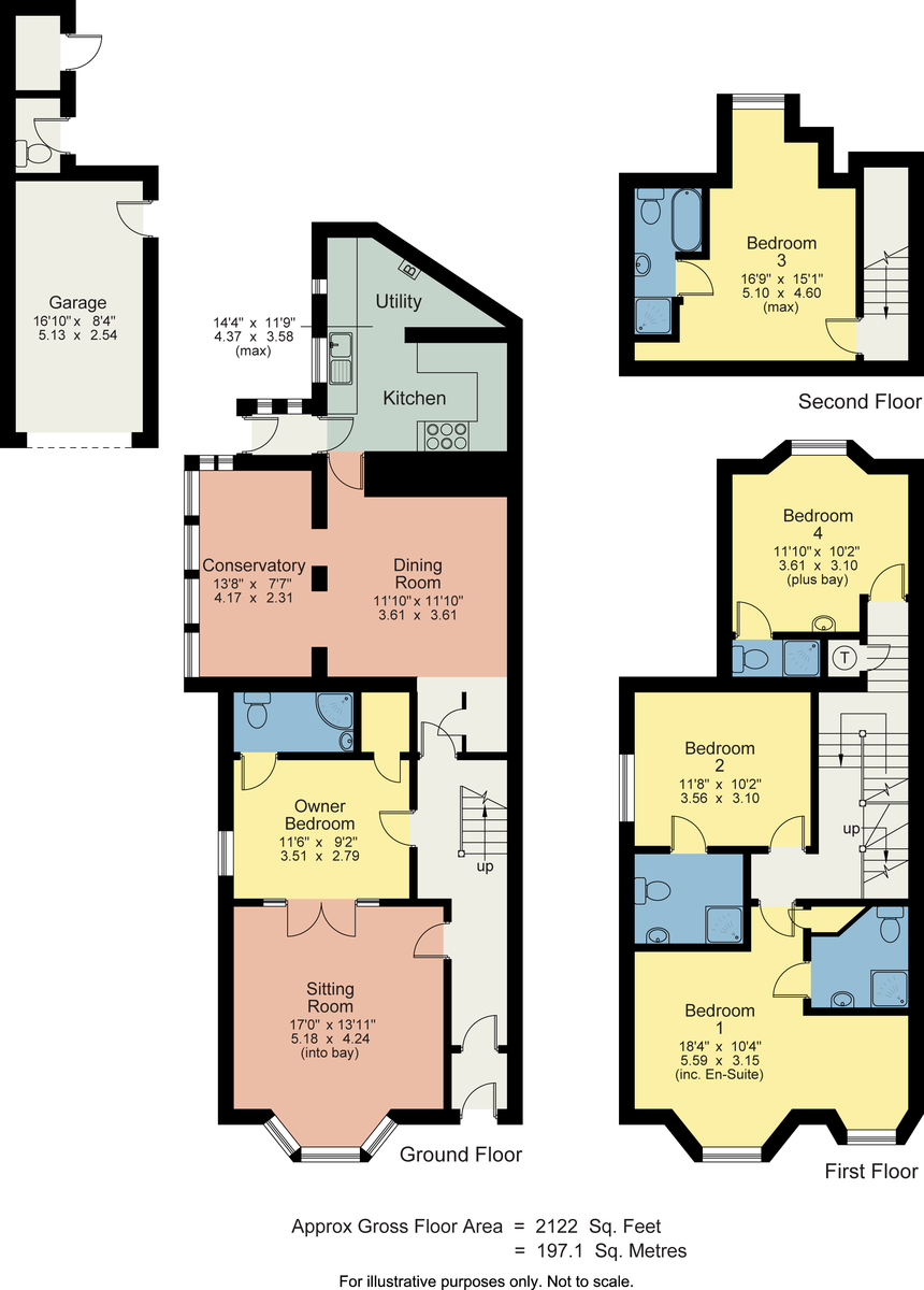 Floorplan No.4, Ellerthwaite Road, Windermere, Cumbria, LA23 2AH