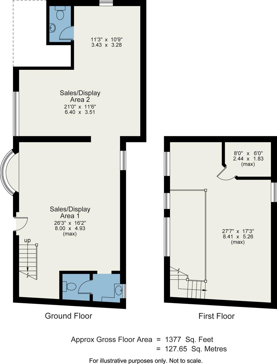Floorplan Courtyard Cottage Antiques, 40 Main Road, Windermere, LA23 1DY