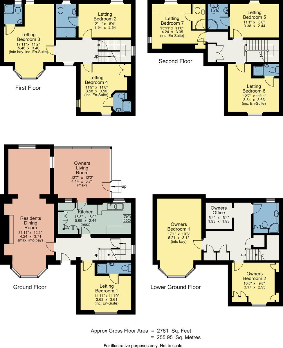 Floorplan Rayrigg Villa, Ellerthwaite Square, Windermere, Cumbria, LA23 1DP