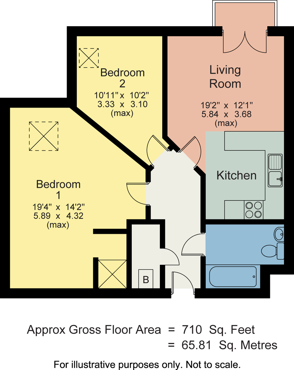 Floorplan 81 Lune Square, Damside Street, Lancaster, Lancashire, LA1 1AH