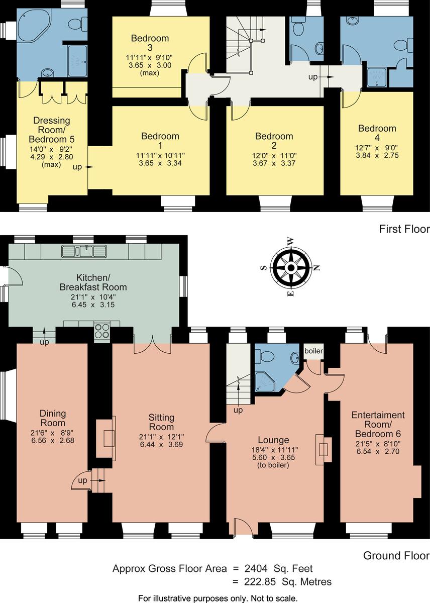 Floorplan Birch House, Little Langdale, Ambleside, Cumbria LA22 9NY