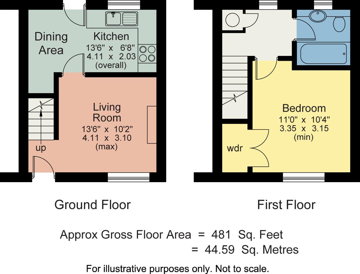 Floorplan 12 Teal Beck, Kendal, Cumbria, LA9 7RQ