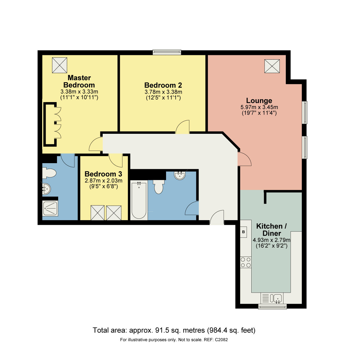 Floorplan Redmayne Court, Ashtrees Ways, Carnforth, Lancashire, LA5 9BF