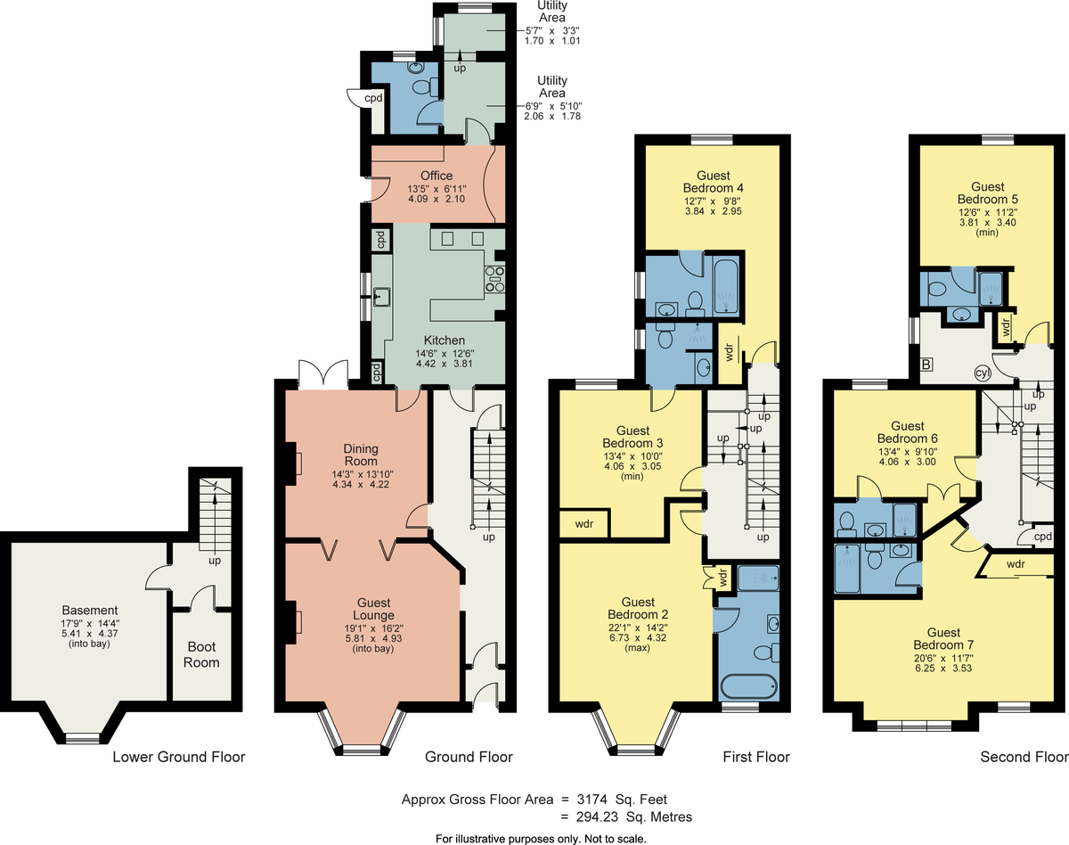 Floorplan Number 43, The Promenade, Arnside, Cumbria, LA5 0AA
