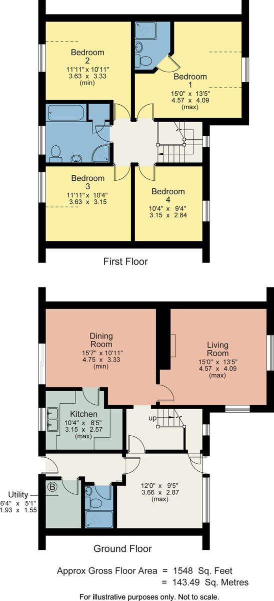 Floorplan 2 Monteagle Drive, Hornby, Lancaster, LA2 8LD