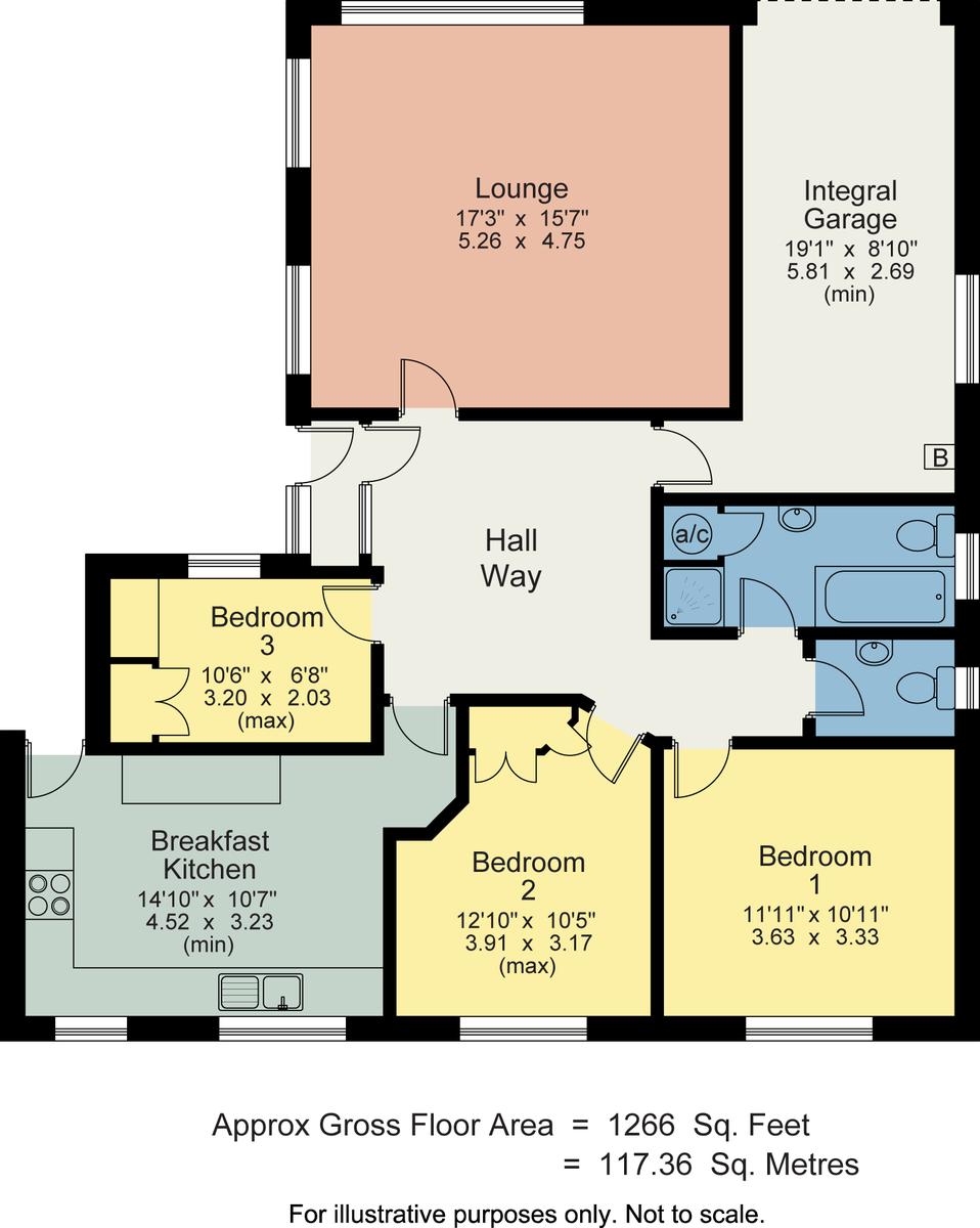 Floorplan 87 Windermere Park, Windermere, Cumbria, LA23 2ND