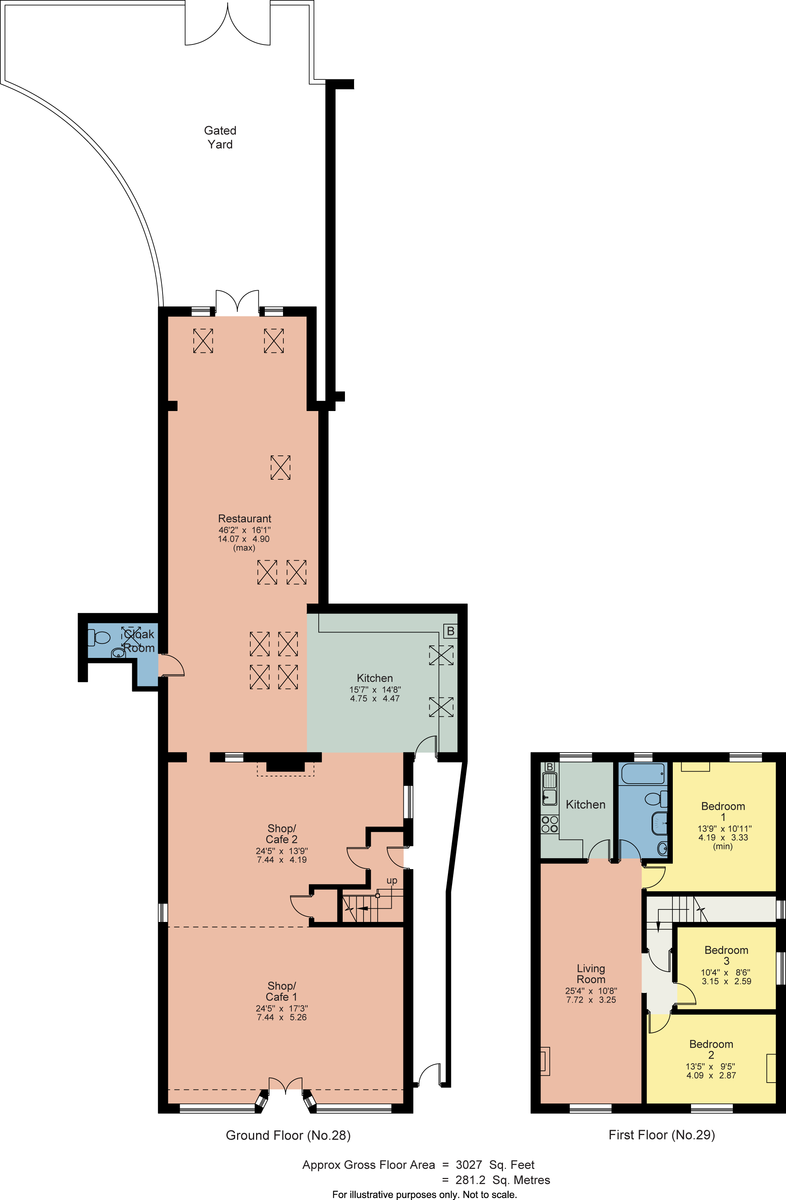 Floorplan 27-29 Main Street, Staveley, Kendal, Cumbria, LA8 9LU