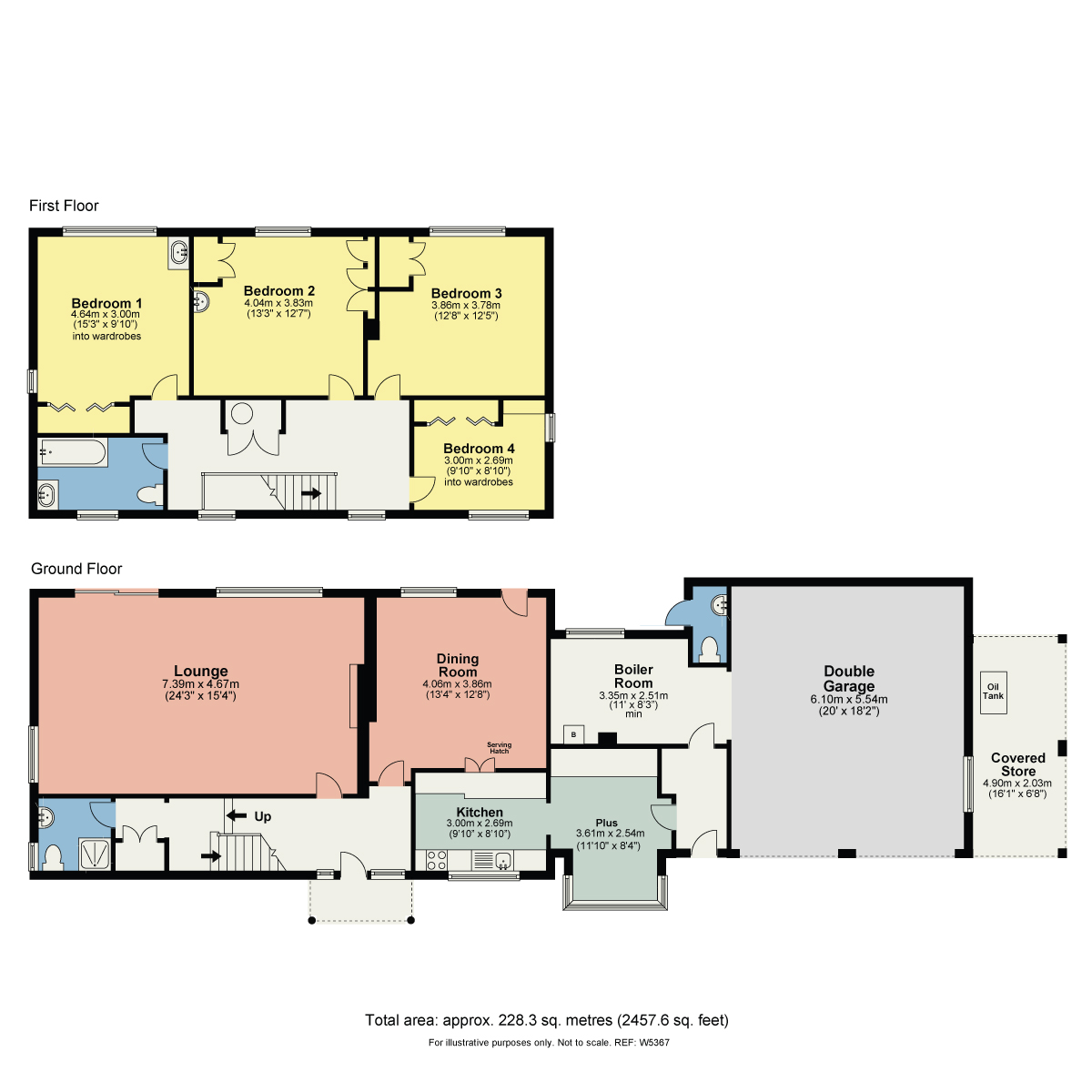 Floorplan Willows, Storrs Park, Bowness On Windermere, Cumbria, LA23 3LT