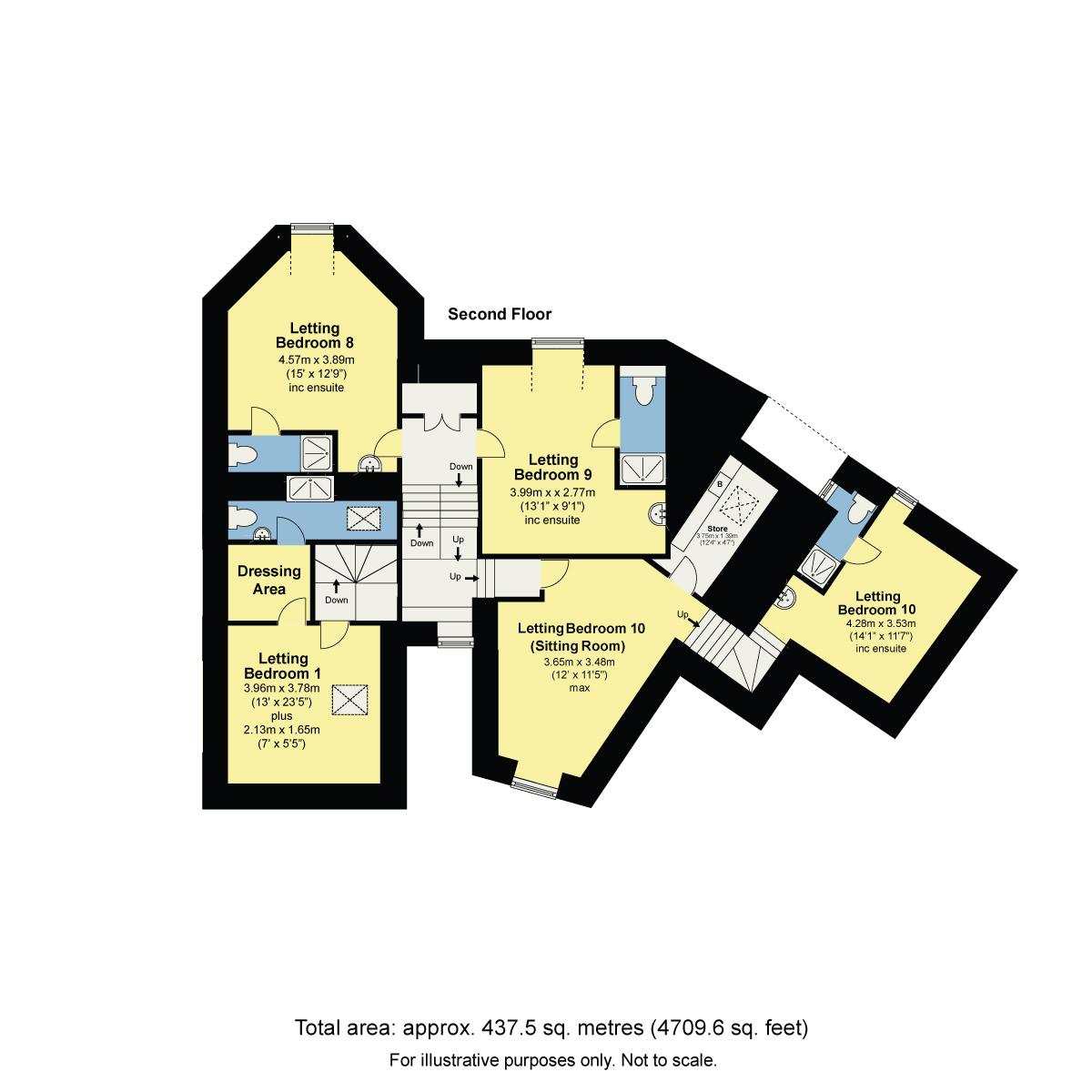 Floorplan Rockside Guest House, Church Street, Windermere, Cumbria, LA23 1AQ