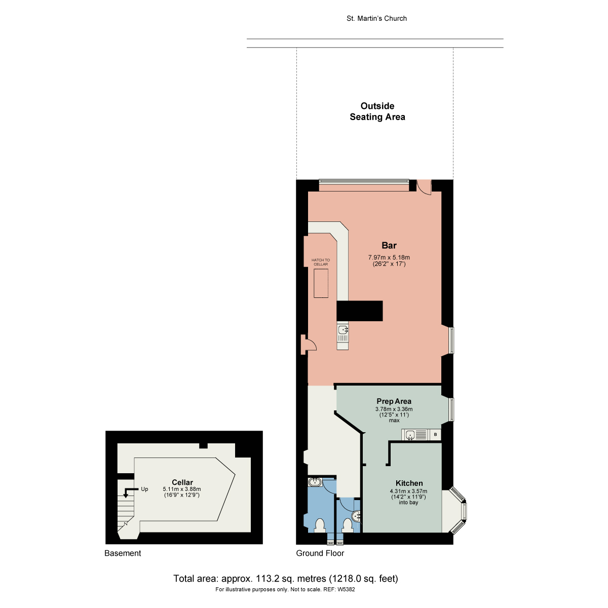 Floorplan The Easy Breeze, Church Street, Bowness On Windermere, Cumbria, LA23 3DG