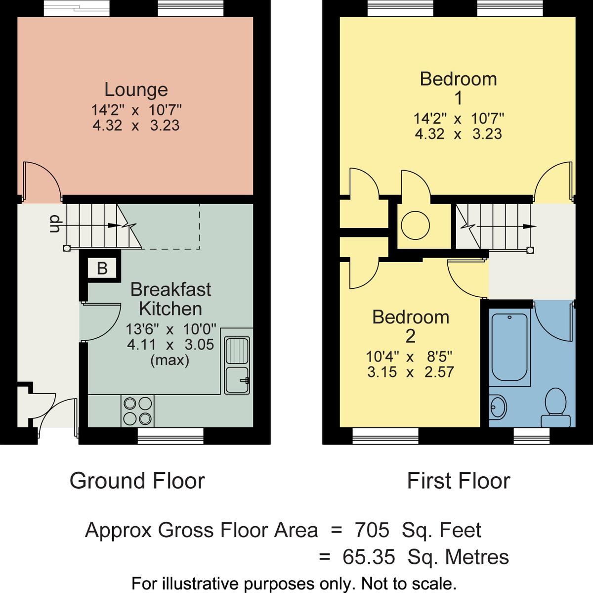 Floorplan 10 Oldfield Court, Windermere, Cumbria, LA23 2HH