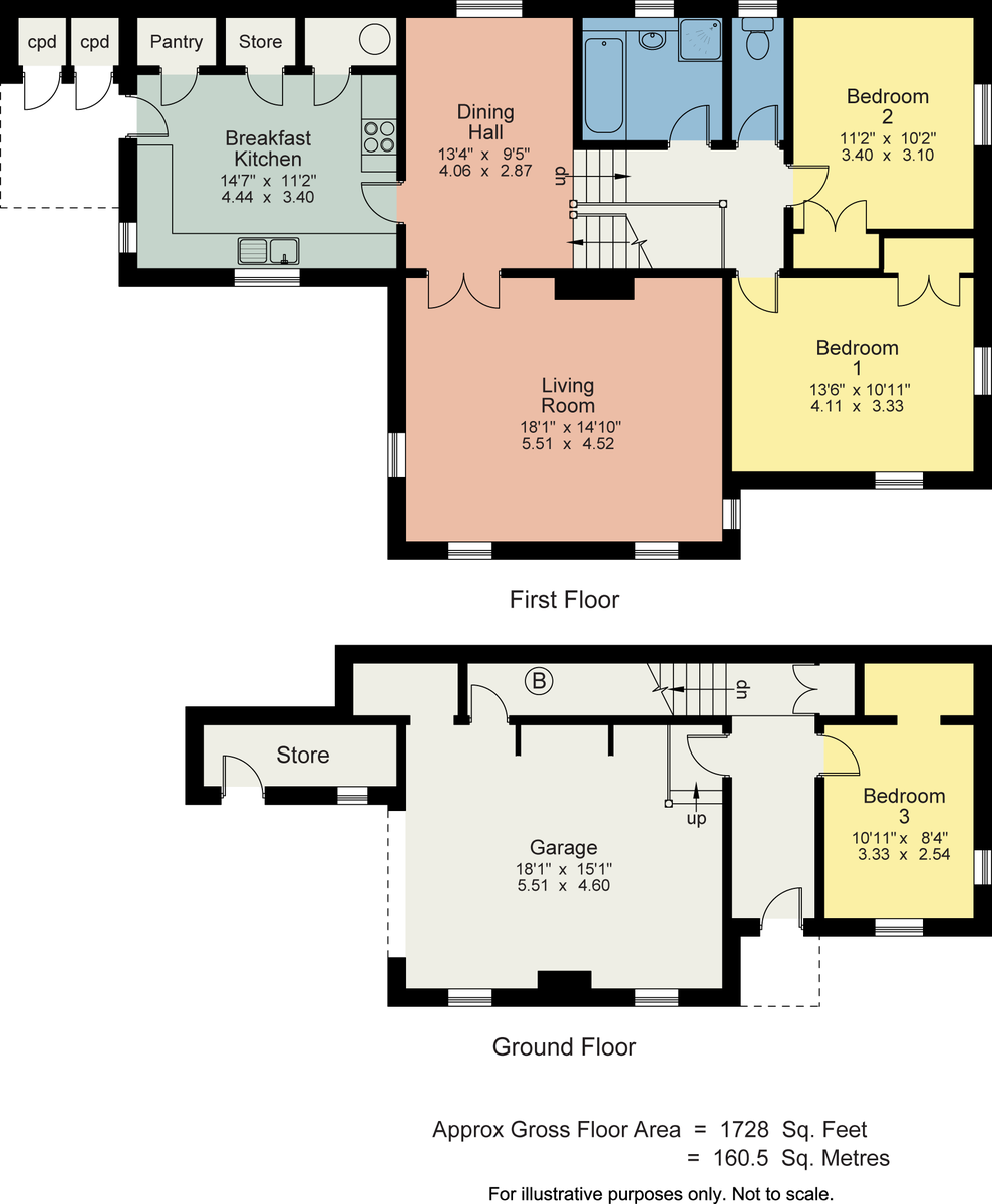 Floorplan Orchard House, Brigsteer, Kendal, Cumbria LA8 8AN
