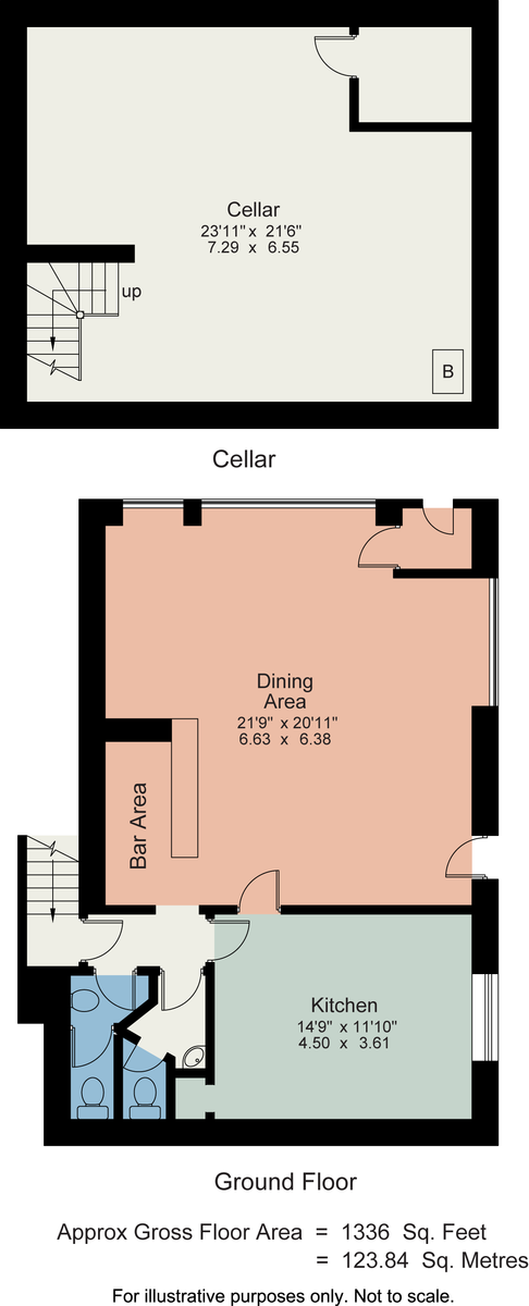 Floorplan Jade Delight Restaurant, Lake Road, Bowness on Windermere, Cumbria, LA23 2BJ