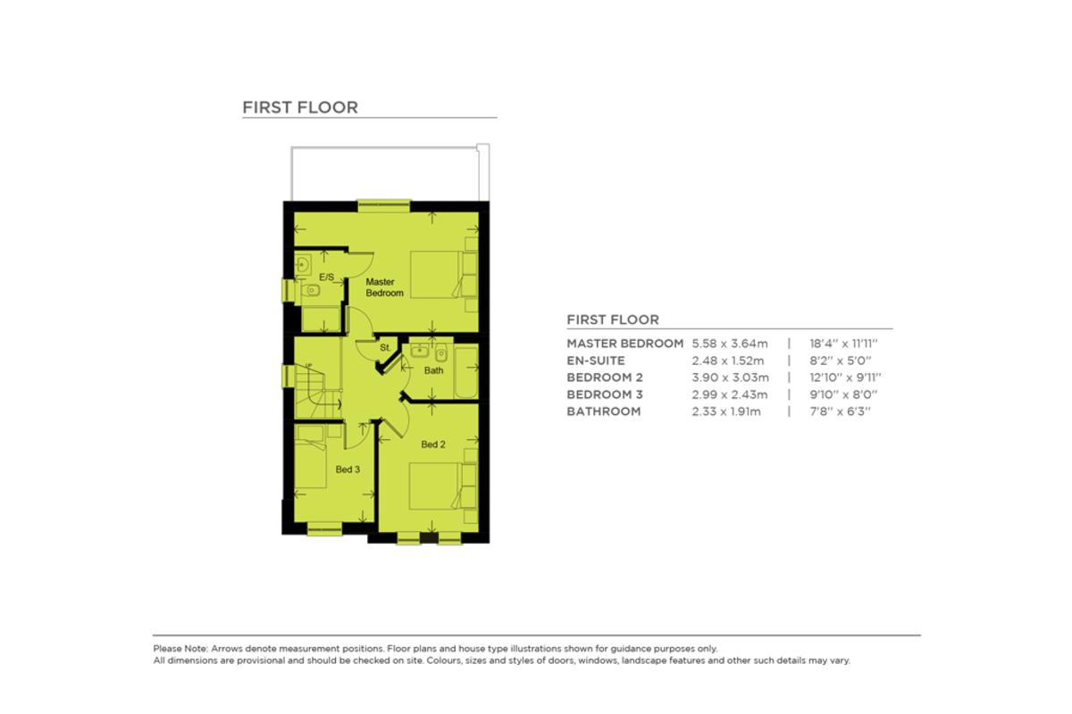 Floorplan Oakfield Park (Plot 38 – Dalemain B), Kendal Road, Kirkby Lonsdale