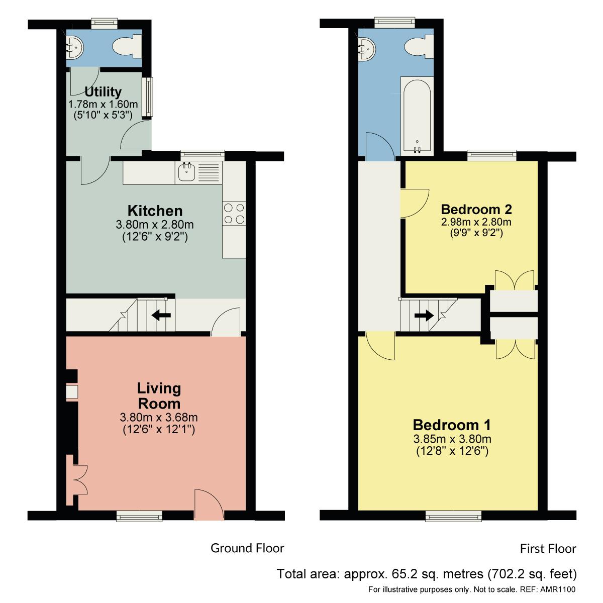 Floorplan Damson Cottage, 31 Bank Terrace, Coniston, Cumbria LA21 8HF