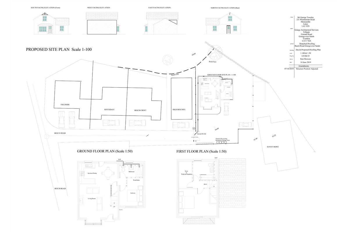 Floorplan Plot of Land, Beech Road, Grange-over-Sands, Cumbria, LA11 6AL